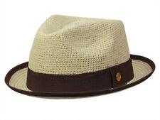 Ca yambe San Diego Crochet Panama Trilby Cappello di Paglia Panama NUOVO ORIGINALE