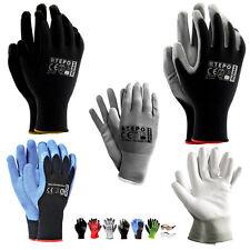 6 - 240  Paar Arbeitshandschuhe Handschuhe Montagehandschuhe PU Gr. 7-8-9-10 NEU