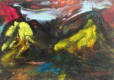 GIANDANTE X (Dante Pescò Milano 1899-1984) MONTAGNE encausto cm 35x50 anni '60