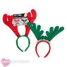 Confezione da 2 Renna Corna Sulla Fascia Costume Natale Ufficio Festa di Natale