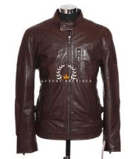 Drake Brown Men's Smart Vintage Style Real Soft Lambskin Leather Jacket