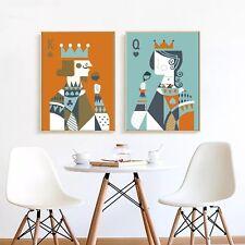 Poker King Queen Abstract Art Canvas Poster Oil Paint Wall Decor Unframed A275