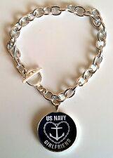 Navy Girlfriend Charm Bracelet
