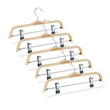broekhanger hout - 5 stuks - rokhanger - kledinghanger - klerenhanger met clips