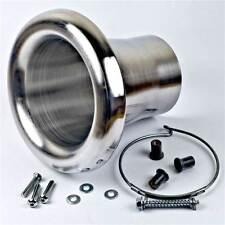 Revotec High Flow Bell bocca di aspirazione dell'aria di aspirazione Tromba Abiti 51mm Tubo D'argento