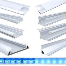 1m & 2m, 0,3m 0,5m Aluminium Profil für LED Stripe matt / klar Abdeckung U Fuge