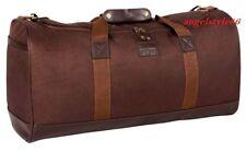 borsa borsone a mano tracolla da viaggio sport con inserti in eco pelle marrone