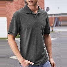JAN 8010 Bio Baumwolle Basic Polo Shirt Organic COMPANIEER Schwarz Melange Grau