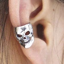 2 Pcs Squelette Crâne Bijou d'oreille Wrap Cartilage Boucle d'oreille clip sur argent bronze JDUK