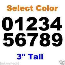 0-9 Numbers 1x Set Vinyl Decals 3