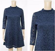 ex M&S Floral Lace High Neck Versatile Office Occasion Swing Dress