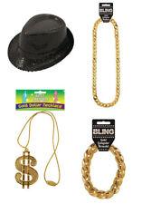 Rapper, GANGSTER POP STAR FANCY DRESS ACCESSORIES COSTUME Pimp Party Dress Up