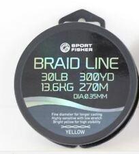 300m Rovex Sportfisher 30LB Spod Marker Braid Yellow Carp Fishing