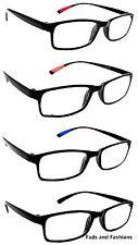 2 pares TR90 Flexible Unisex Gafas de lectura 4 colores con fuerza de 8 Lentes RG9