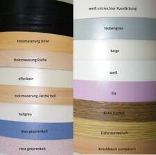 Kantenumleimer Bügelkante Schmelzkleber SK Breite 23mm Umleimer 17 Farben Dekor