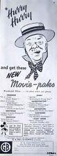 Rare 1951 'G.B. Bell & Howell' Home Movies ADVERT - Original W C FIELDS Print AD