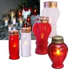 """LED Grableuchte """"Memorial Candle"""" Grablaterne Grablicht Grablampe Grab-Kerze"""