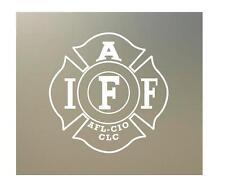 "TWO 4"" IAFF die dye cut new vinyl Decal sticker fire fighter plain clear S037"