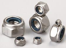 Stainless Steel 304 SS Hex Nylon Lock Nuts Metric M2 M2.5 M3 M4 M5 M6 M8 M10