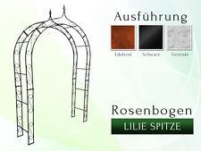 Metall Rosenbogen Massiv La Pergola Gartenbogen Rosensäule Lilie Spitze B 1,40 m