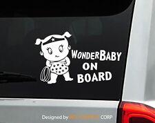 """Baby on Board Wonder Woman car decal sticker cute Superhero Baby 7.75""""W"""