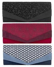 NEW Ruby Shoo Prague Envelope Clutch Bag Red / Navy / Black / Mink ( Ivy )