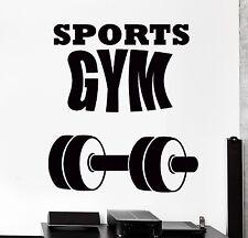 Wall Stcker Sport Dumbbell Barbell Gym Fitness Vinyl Decal (z3069)