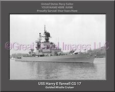 USS Harry E Yarnell CG 17 Personalized Canvas Ship Photo Print Navy Veteran Gift