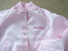 Personalized Embroidered Girls Youth Sizes Small Medium Large Satin Jacket