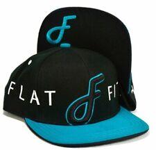 Flat Fitty FF Wrap Snapback Cap Hat, Black, One Size