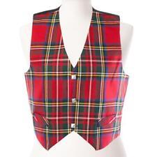 Neue schottische Premium Herren Tartan polyviscose Weste-Royal Stewart