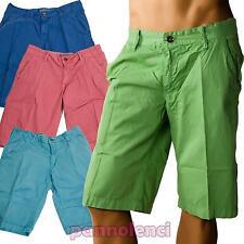 Bermuda uomo pantaloncini pantaloni leggeri cotone estivi nuovi F-8517