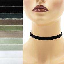 Black+ Velvet Choker 3/8 inch (9 - 10 mm) wide custom adjustable ribbon necklace