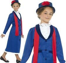 Bambini Ragazze Vittoriano NONNA Costume Bambini POPPINS VESTITO NUOVO