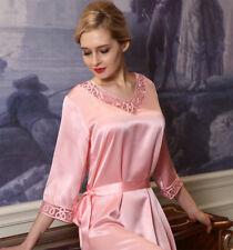 Pure Silk Womens 3/4 Sleeve Lace V Neck Short SlipsUS 2 6 10 XIM1731