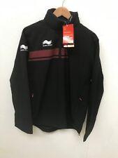 Burrda Sport Herren Training Regen Jacke-verschiedene Größen-schwarz-NEU
