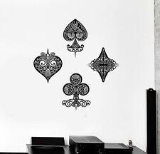 Vinyl Wall Decal Playing Card Poker Gambling Gambler Casino Stickers (ig4693)