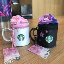1pcs 2019 China Starbucks Cherry Blossom Mini SR Kits Card Coin Bag Keychain