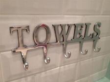 LARGE TOWEL HOLDER RACK,BATH HANGER HOOKS,WALL MOUNTED BATHROOM ALUMINIUM CHROME