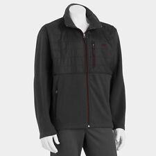Men New Balance Ripstop Polar Fleece Full-Zip Jacket Charcoal/Black MSRP $70