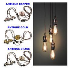 Antique Ceiling Lamp Lights - E27 - Modern Retro - 3 colours - NEW