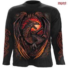 Spiral Direct DRAGON FURNACE Long Sleeve T shirt/Biker/Tattoo/Wild/Fire/Goth/Top