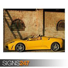 Ferrari F430 Spider amarillo (AA722) cartel de auto-arte cartel impresión A0 A1 A2 A3