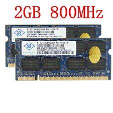 4GB 2x 2GB / 1GB PC2-6400S DDR2 800MHz SO-DIMM notebook Memoria RAM Per NANYA IT