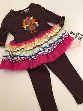 Sweet Heart Rose Girls Ruffle Tutu Dress Leggings Size 24 Months Thanksgiving