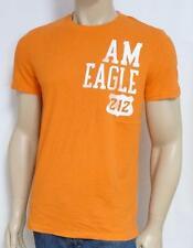 American Eagle Outfitters AEO 212 Mens Orange Double Logo T-Shirt AEO New NWT