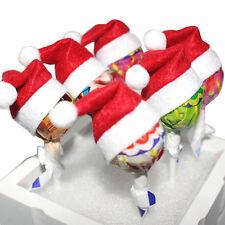 6-60x  Mini Santa Hat Lollipop Cover Wraps Tops Toppers Christmas Decors Hot