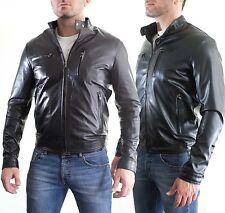 aus Leder 100% o Haut PU Jacke Bomber Mann Männer Leder Jacke G6a-G6b