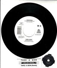 """MADONNA Take A Bow 7"""" 45 rpm record + juke box title strip"""