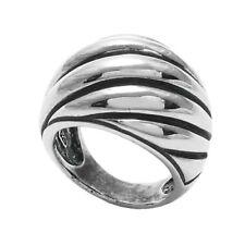 925 Sterling Silver Large Domed Shrimp Ring Size 6-10